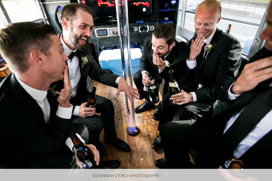golden-colorado-wedding-bus-laughs