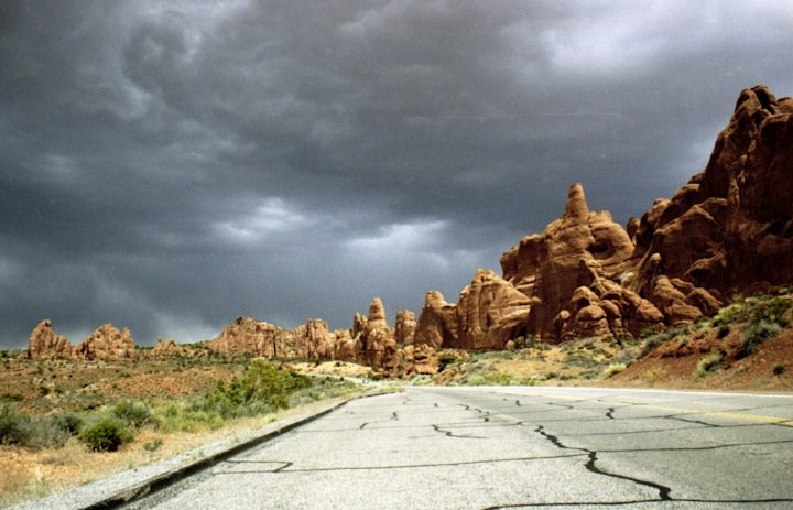 Stormy day in Moab