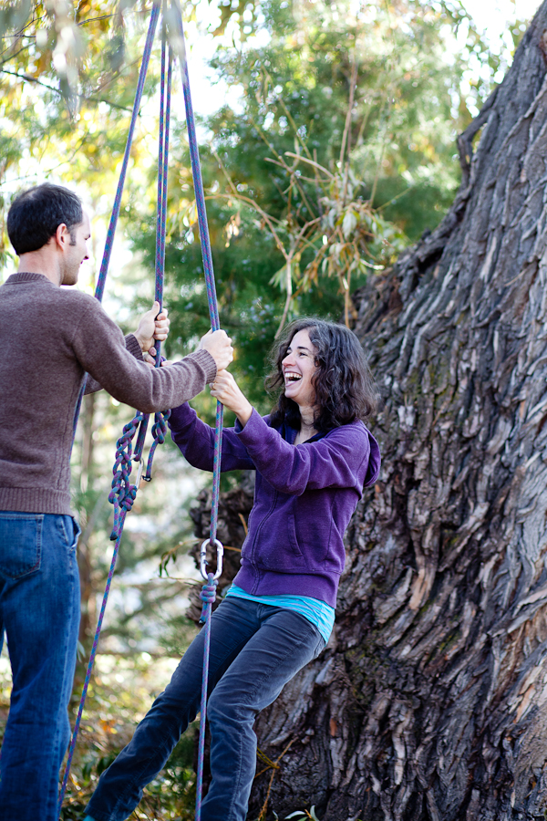 couple on tire swing